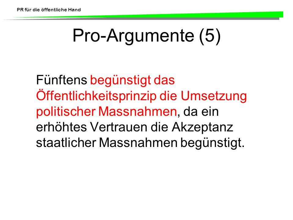 Pro-Argumente (5)