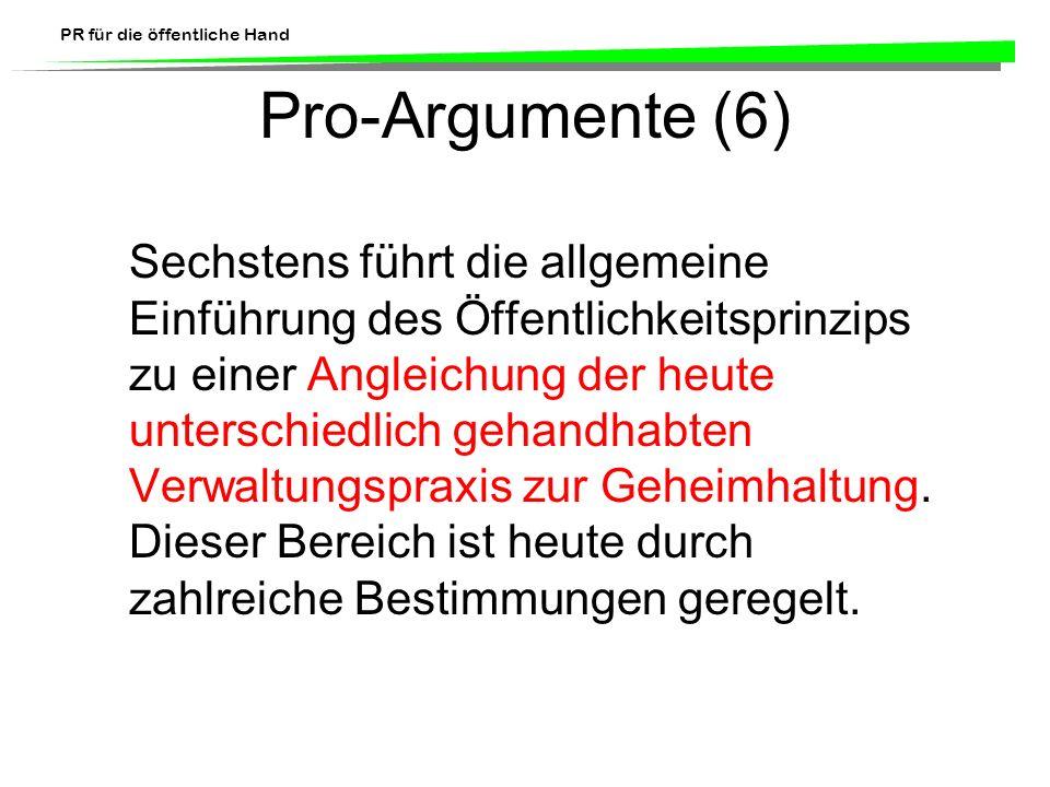 Pro-Argumente (6)