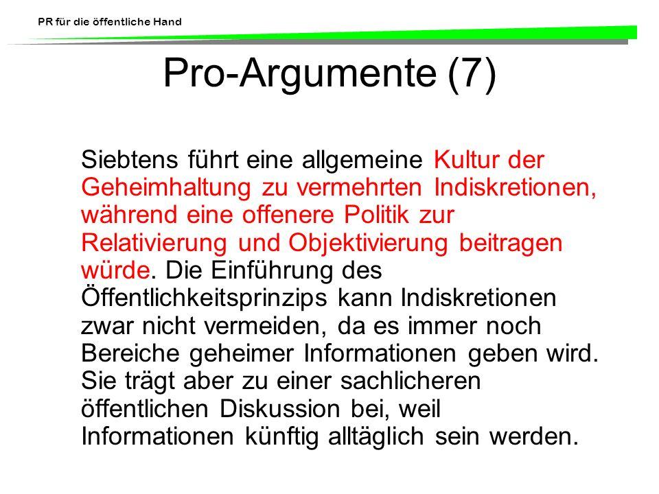 Pro-Argumente (7)