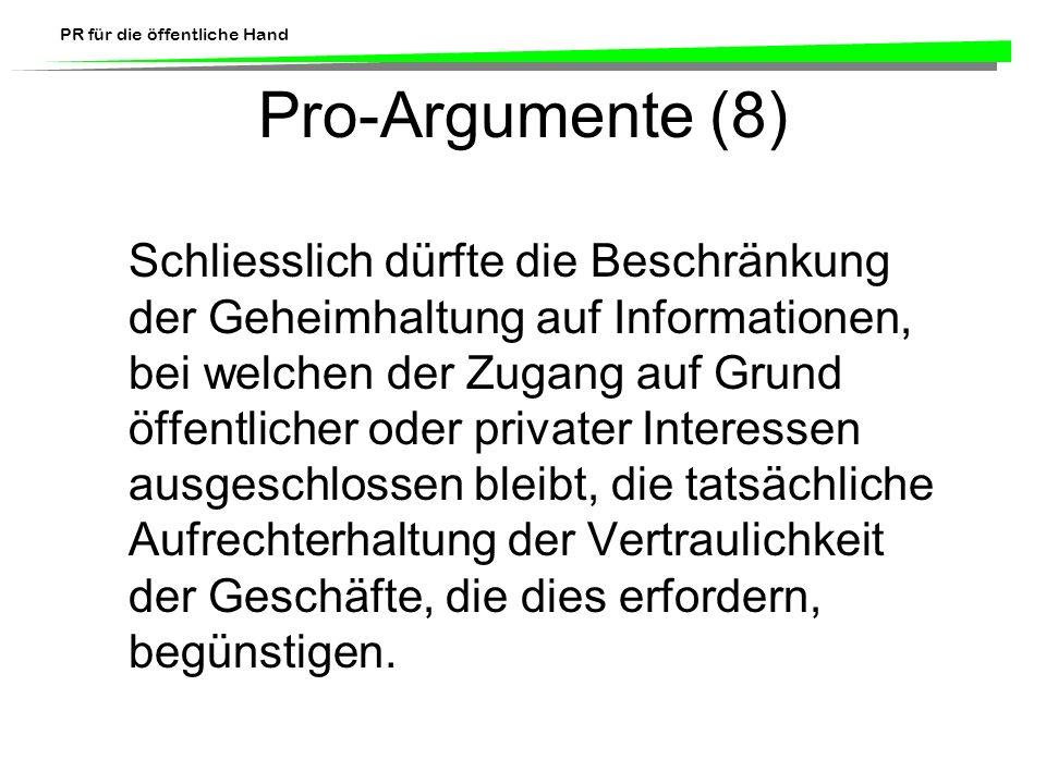 Pro-Argumente (8)