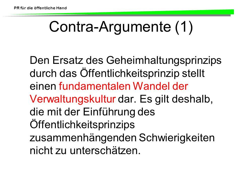 Contra-Argumente (1)