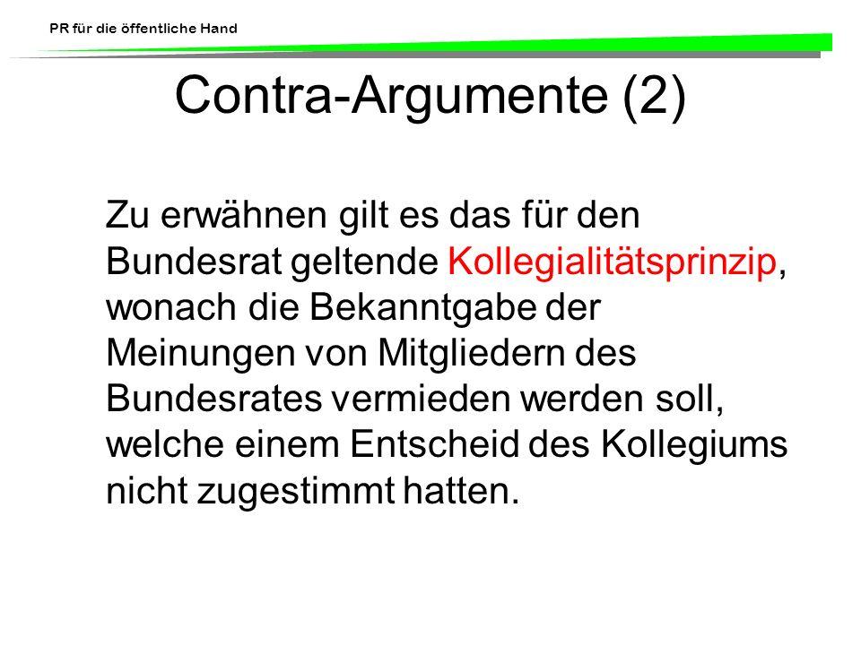 Contra-Argumente (2)
