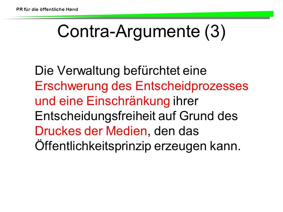 Contra-Argumente (3)