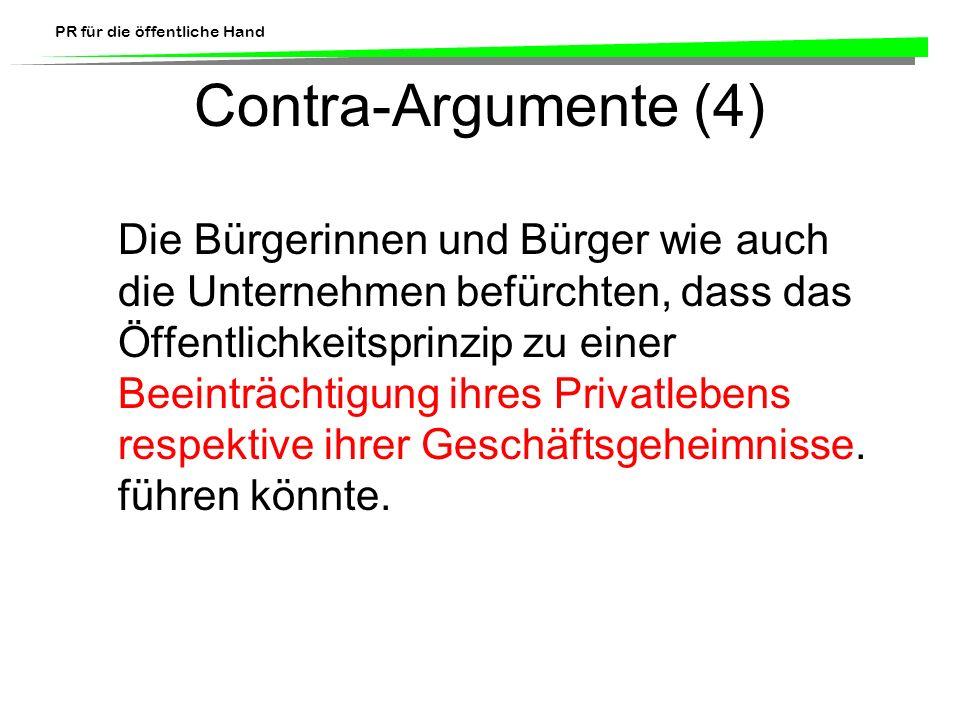 Contra-Argumente (4)