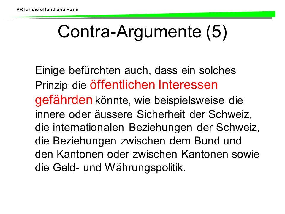 Contra-Argumente (5)