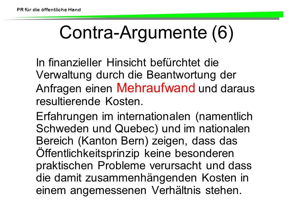 Contra-Argumente (6)