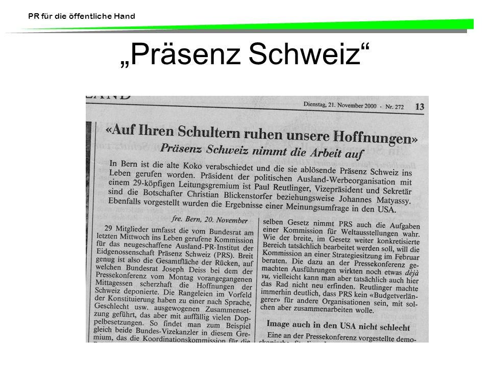 """""""Präsenz Schweiz"""