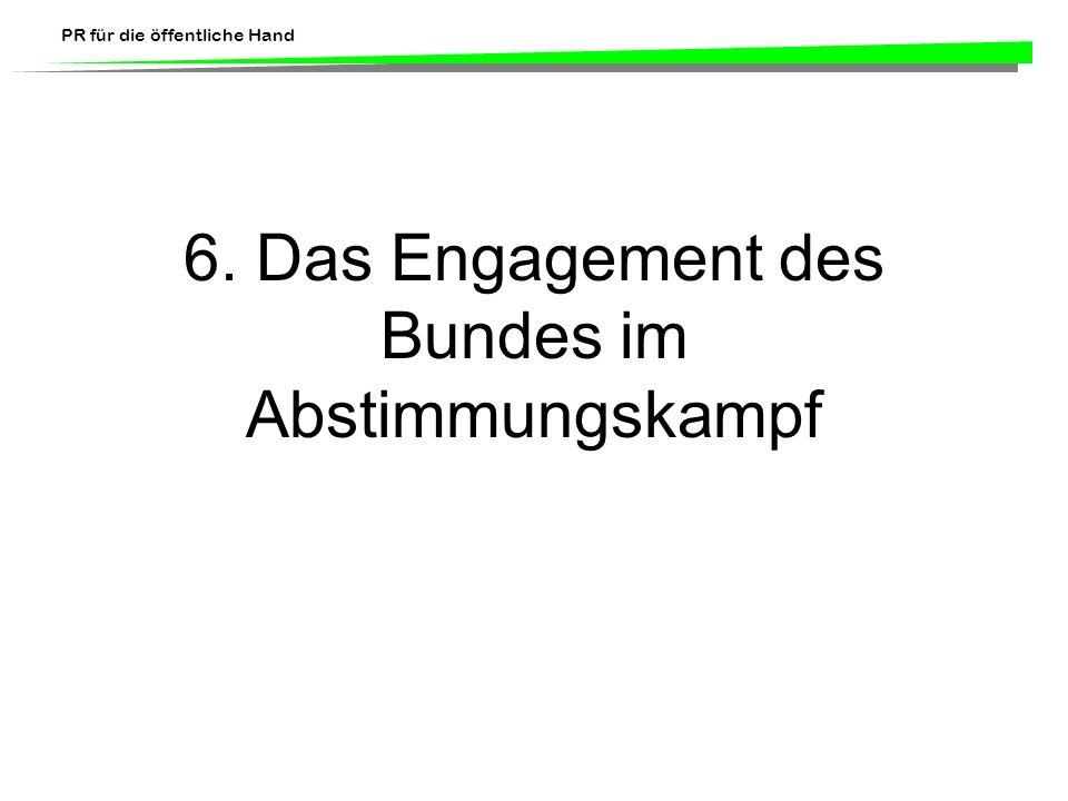 6. Das Engagement des Bundes im Abstimmungskampf