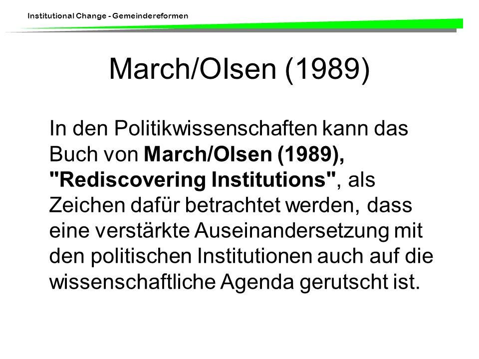 March/OIsen (1989)