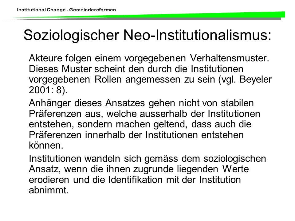 Soziologischer Neo-Institutionalismus:
