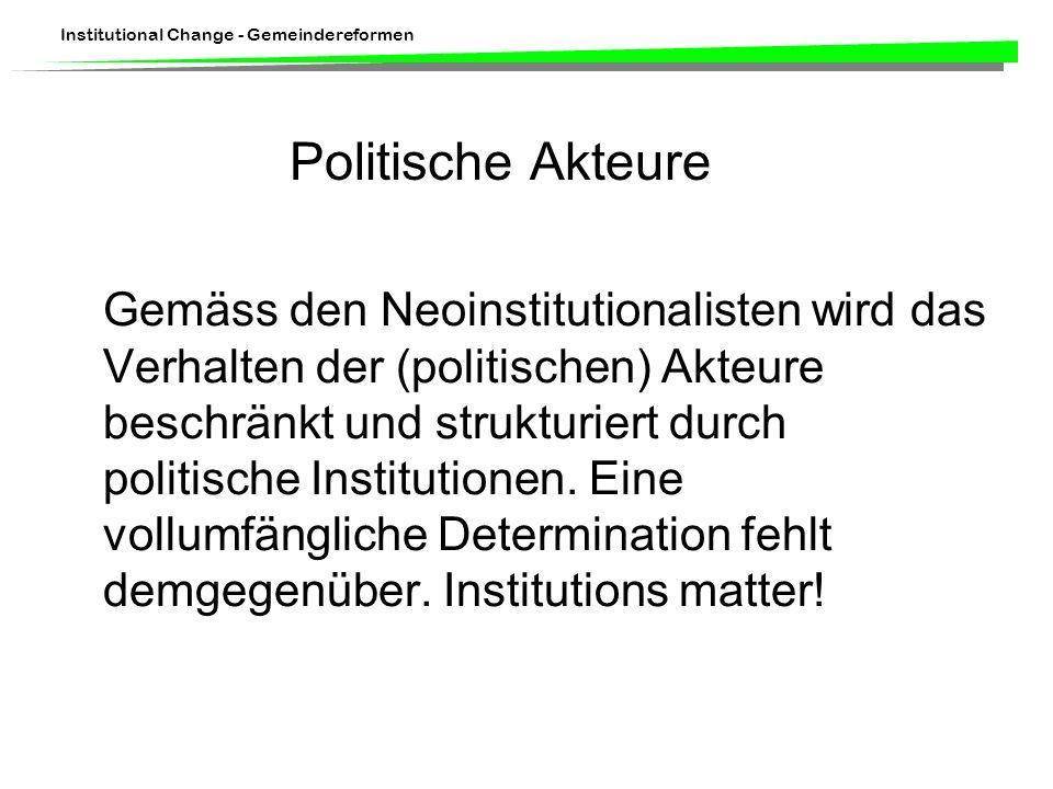 Politische Akteure