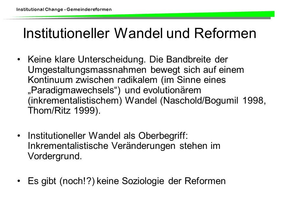 Institutioneller Wandel und Reformen