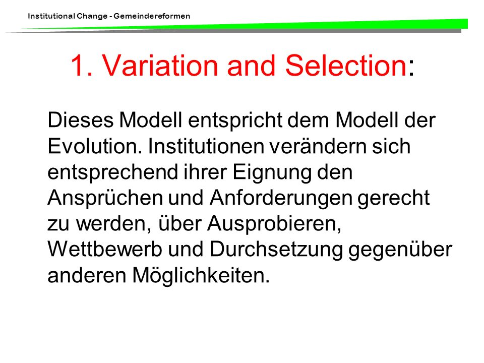 1. Variation and Selection: