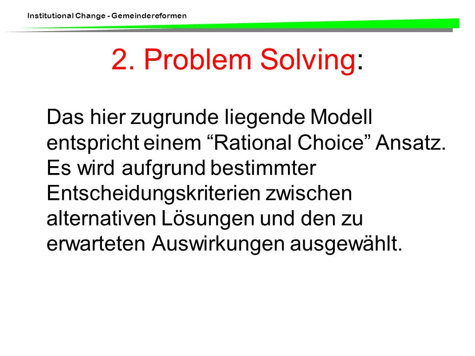 2. Problem Solving: