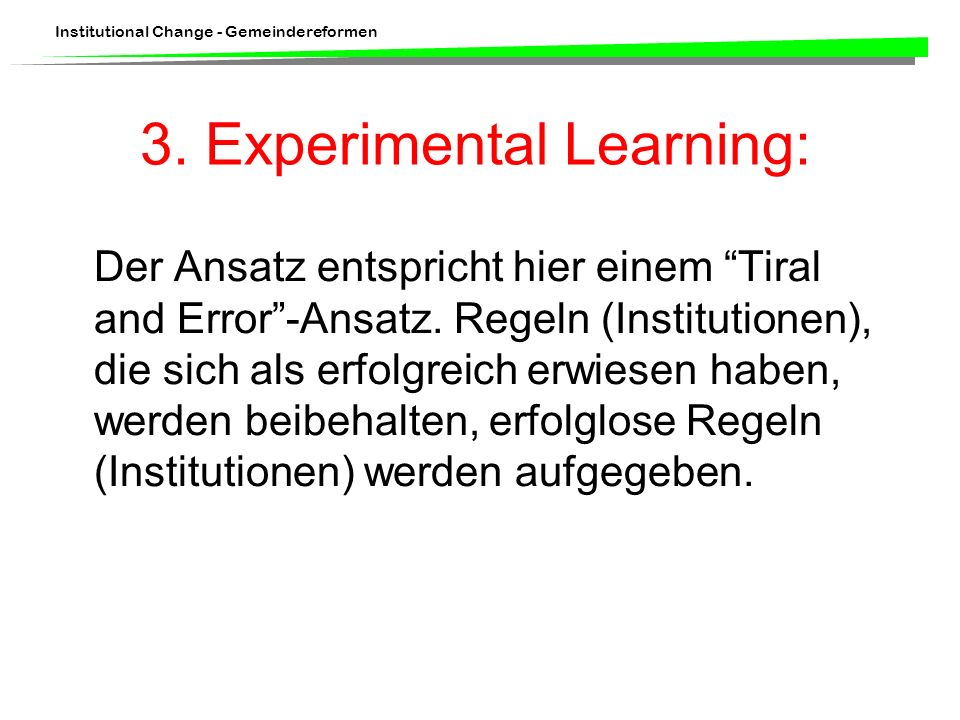 3. Experimental Learning: