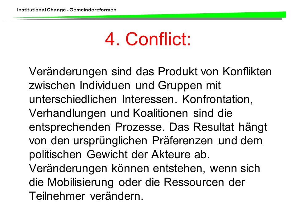 4. Conflict: