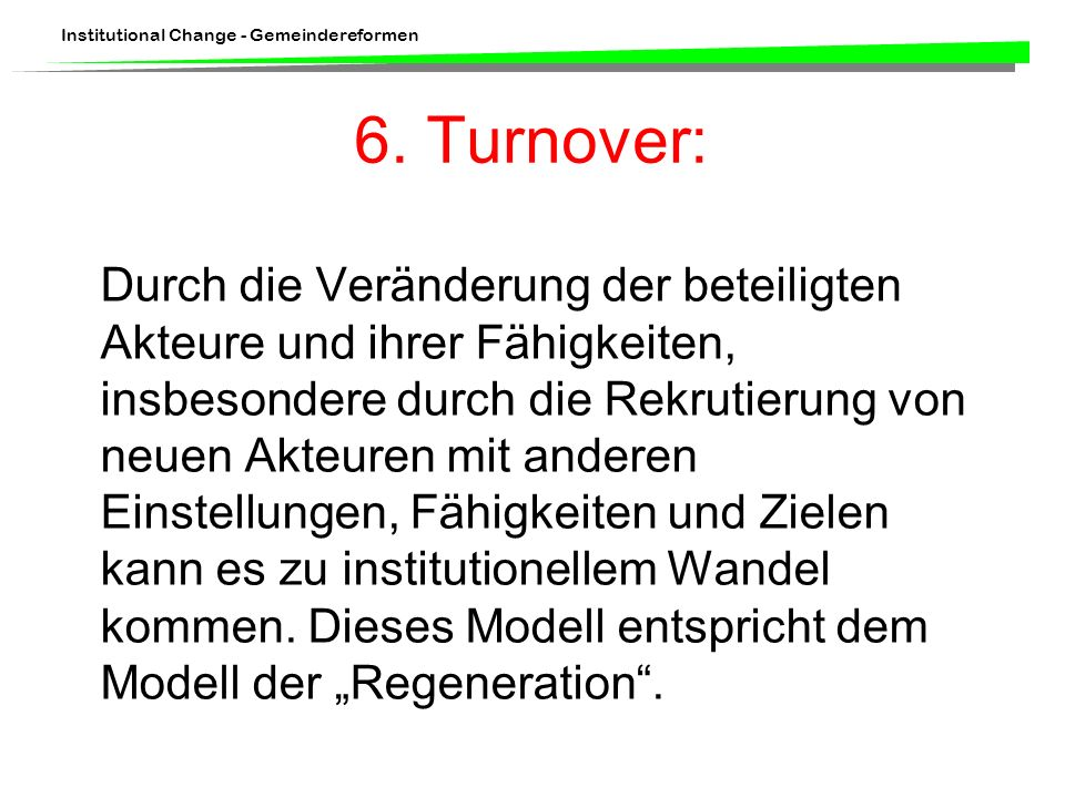 6. Turnover: