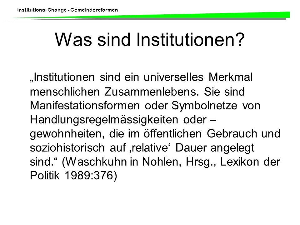 Was sind Institutionen