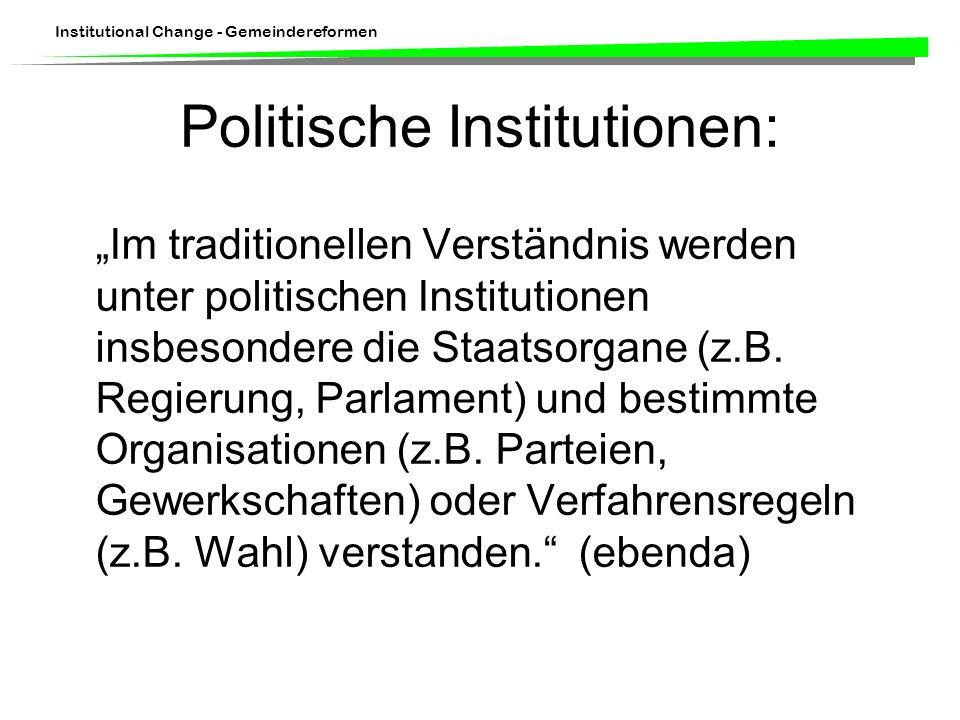 Politische Institutionen: