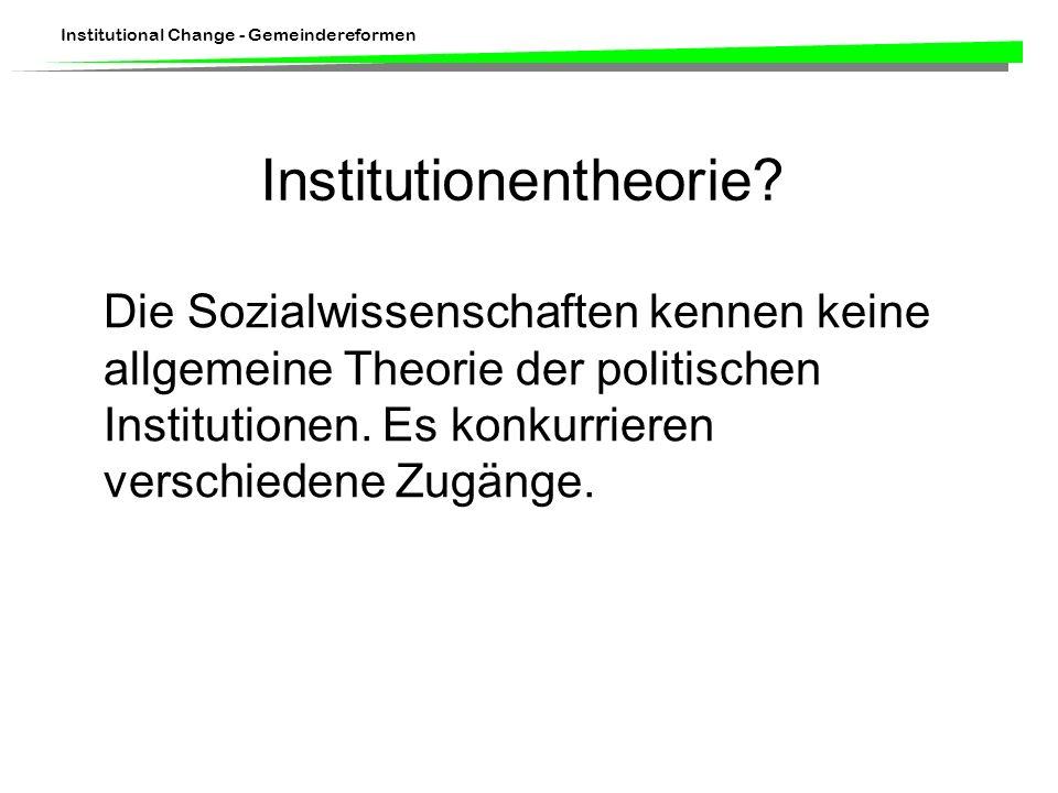 Institutionentheorie