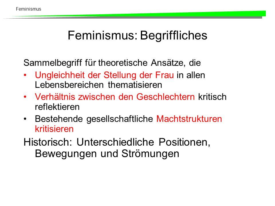 Feminismus: Begriffliches
