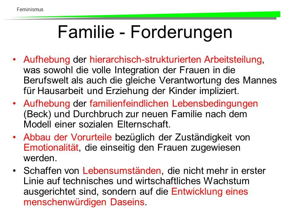 Familie - Forderungen