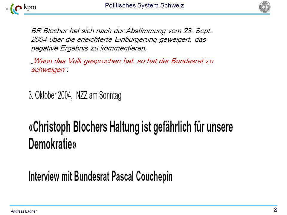 BR Blocher hat sich nach der Abstimmung vom 23. Sept