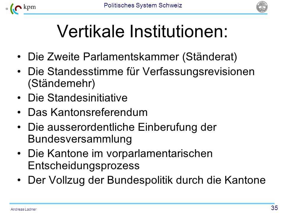 Vertikale Institutionen: