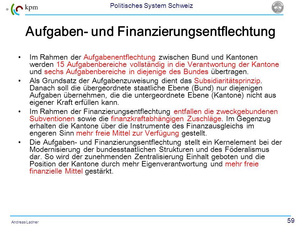 Aufgaben- und Finanzierungsentflechtung