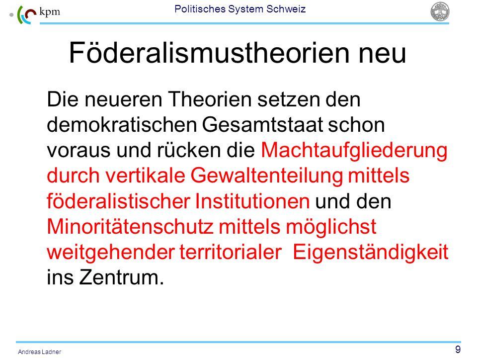 Föderalismustheorien neu