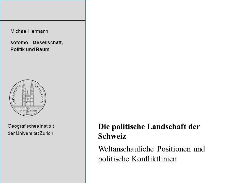Die politische Landschaft der Schweiz