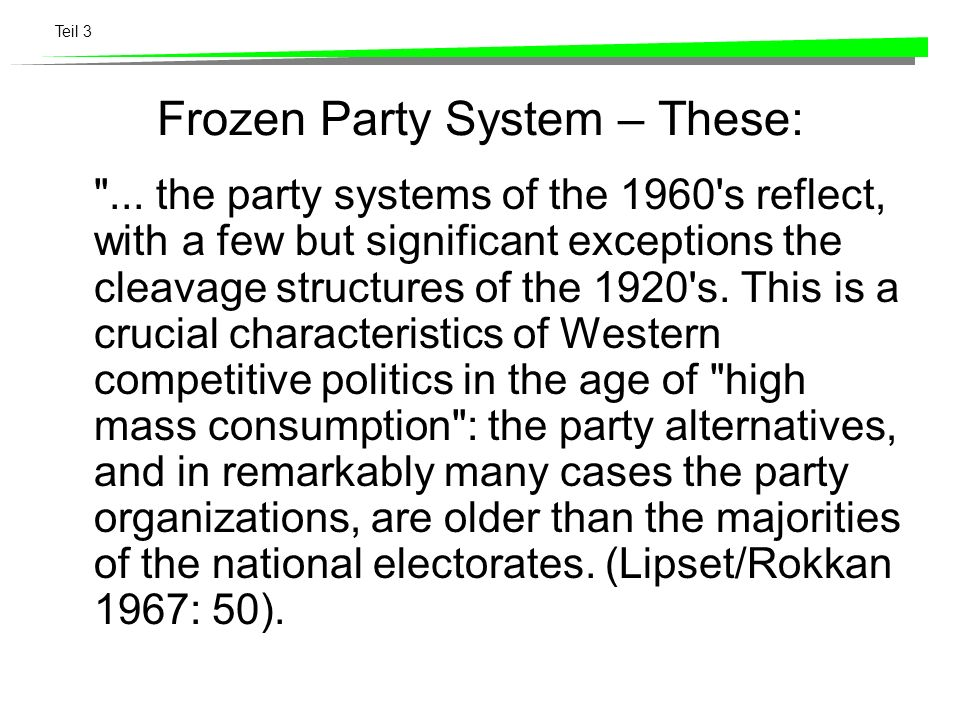 Frozen Party System – These: