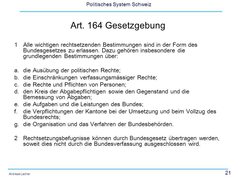 Art. 164 Gesetzgebung