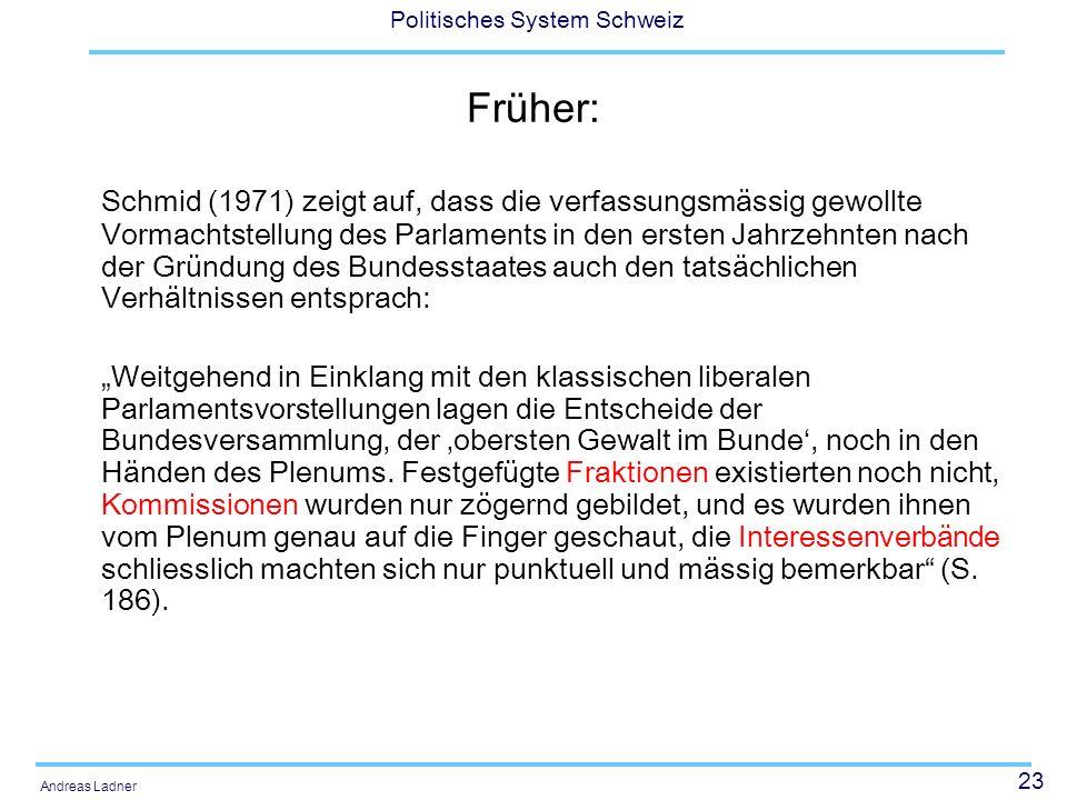 Früher: