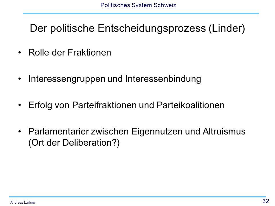 Der politische Entscheidungsprozess (Linder)