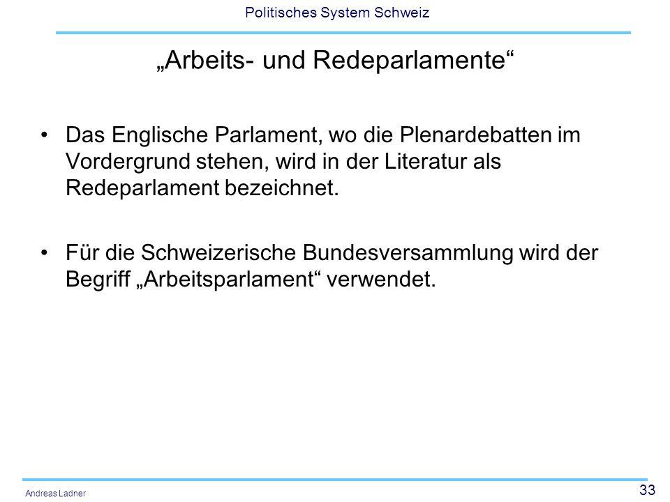 """""""Arbeits- und Redeparlamente"""