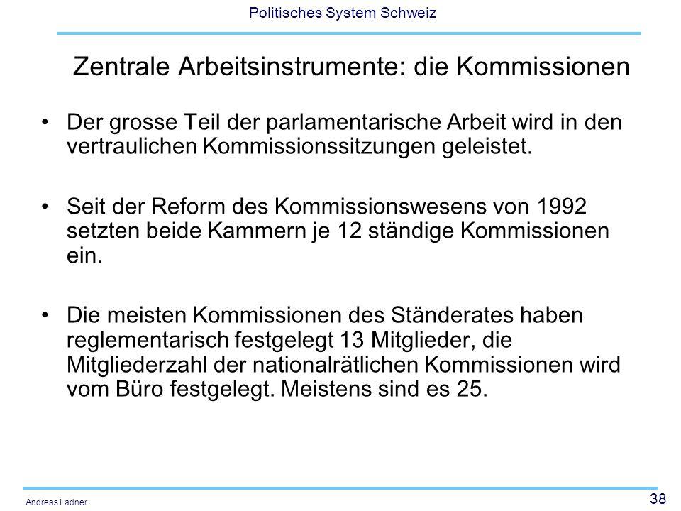Zentrale Arbeitsinstrumente: die Kommissionen