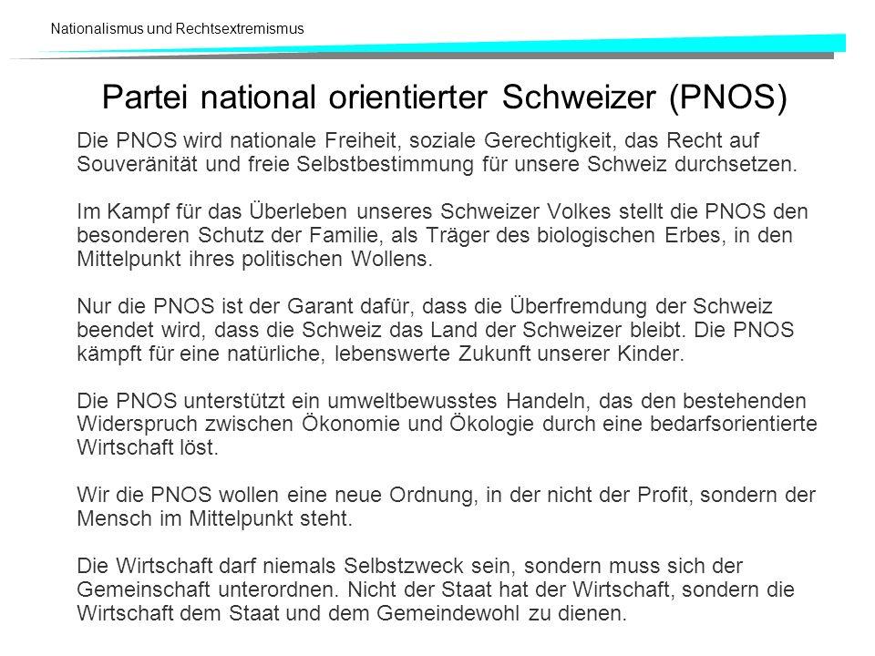 Partei national orientierter Schweizer (PNOS)