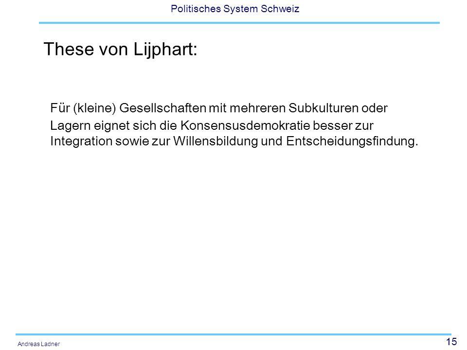 These von Lijphart:
