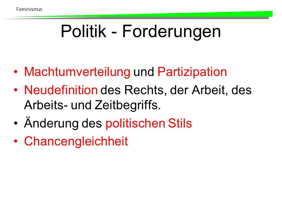Politik - Forderungen Machtumverteilung und Partizipation