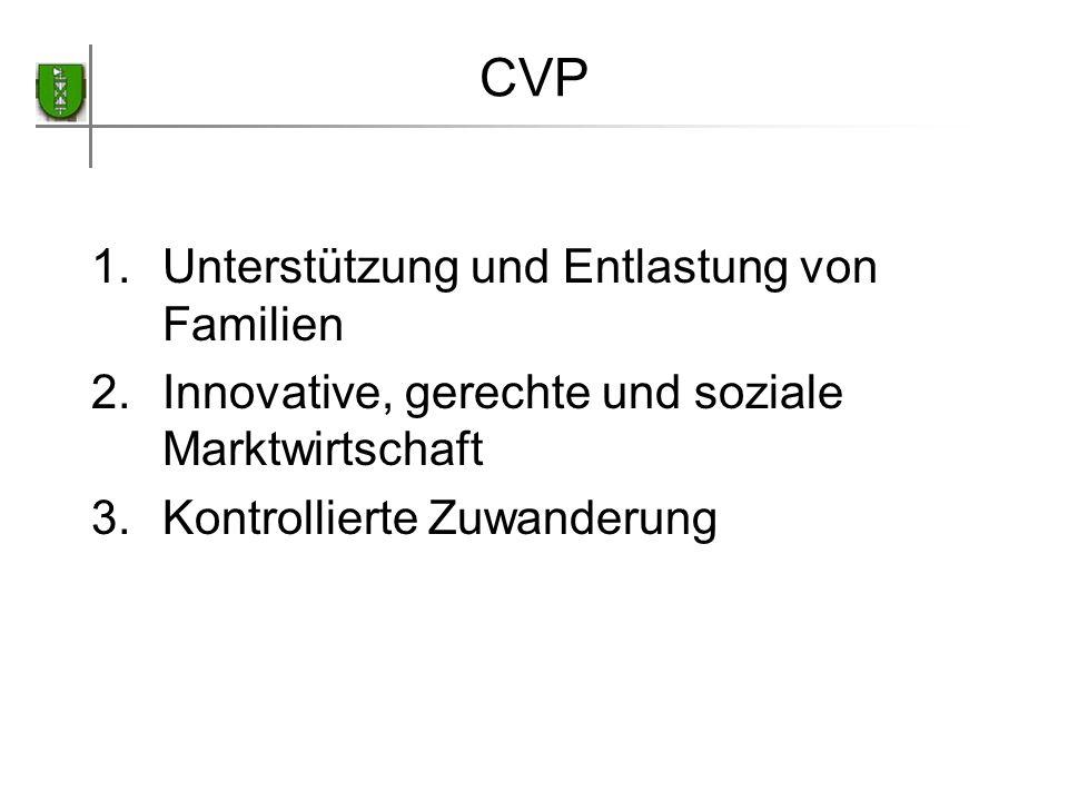 CVP Unterstützung und Entlastung von Familien