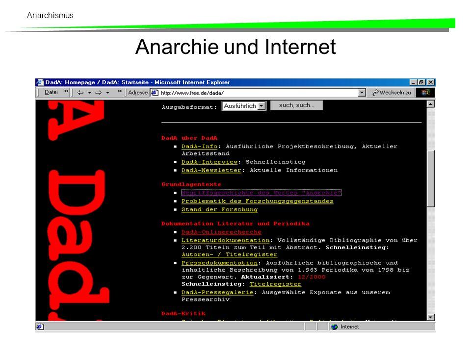 Anarchie und Internet