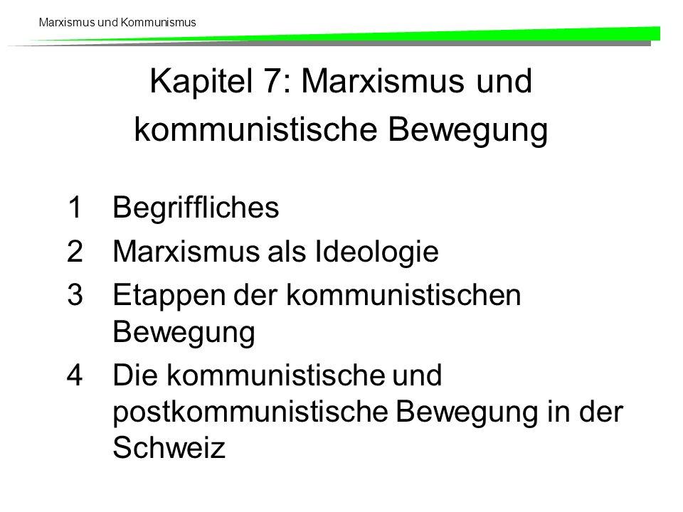 Kapitel 7: Marxismus und kommunistische Bewegung