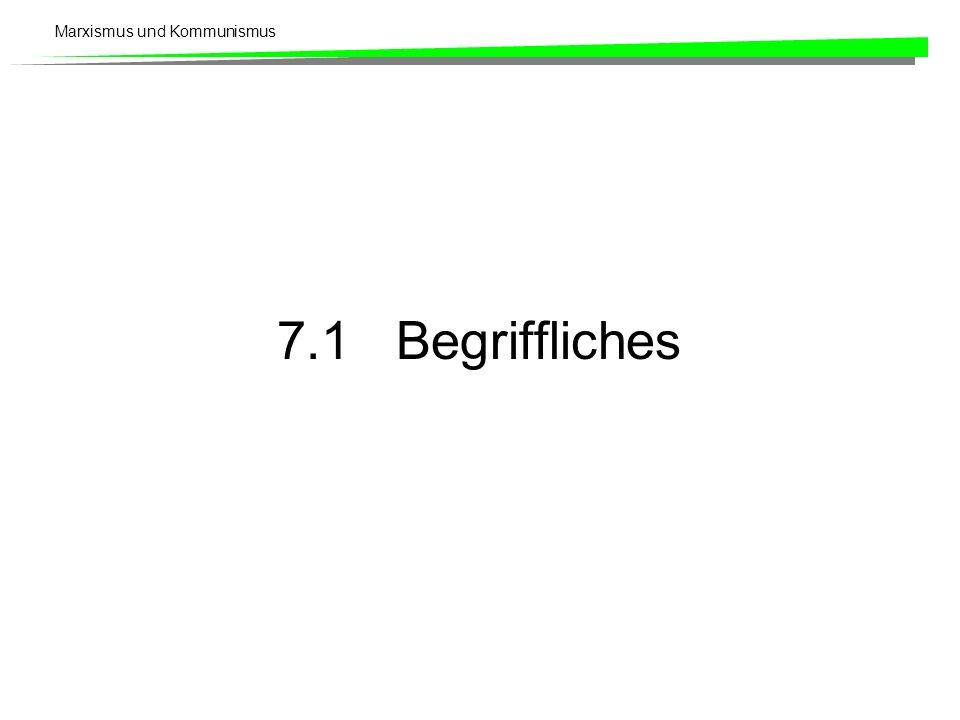 7.1 Begriffliches