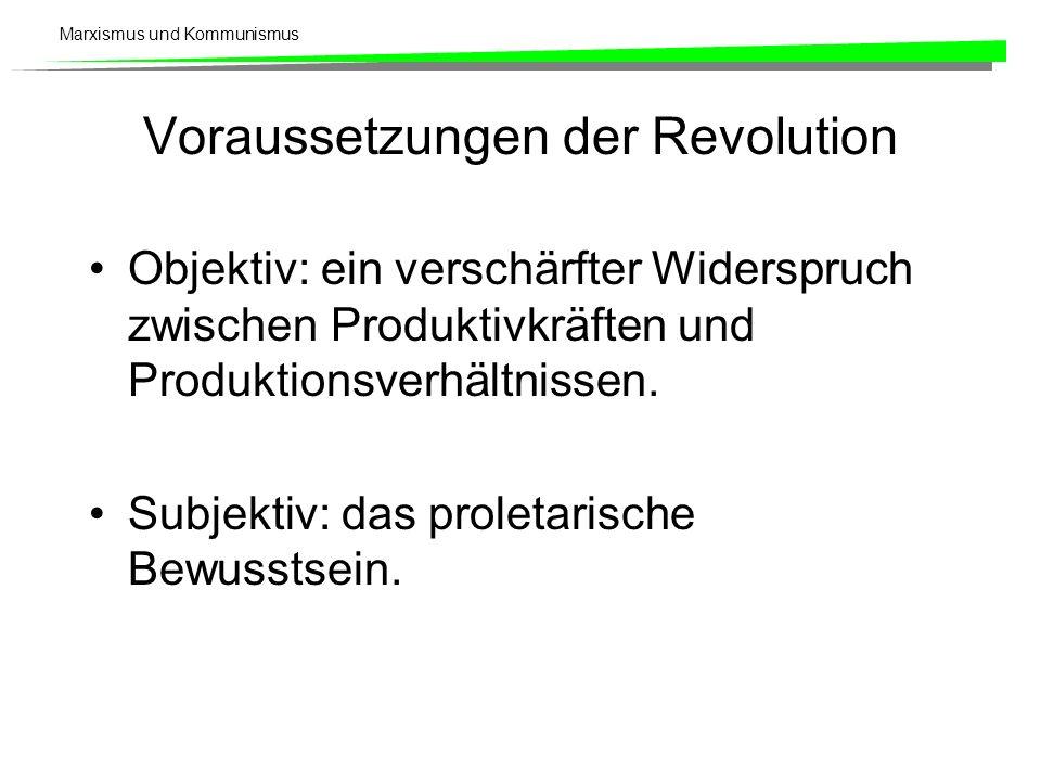 Voraussetzungen der Revolution
