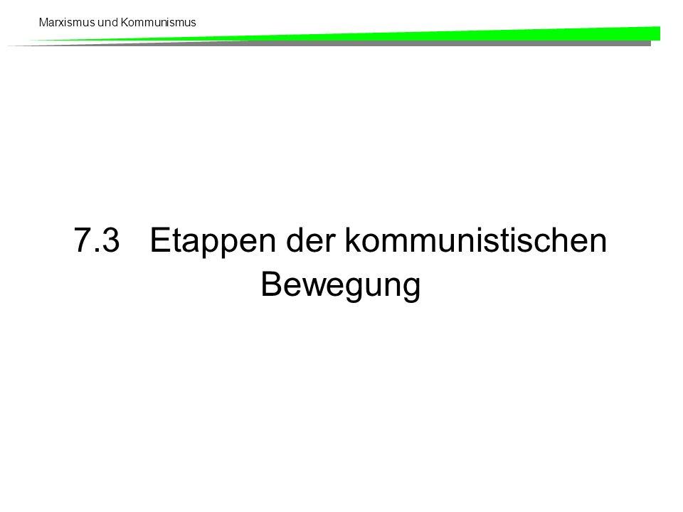 7.3 Etappen der kommunistischen Bewegung