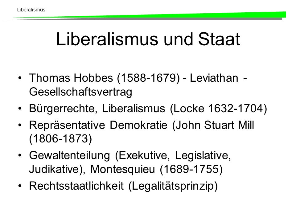 Liberalismus und Staat
