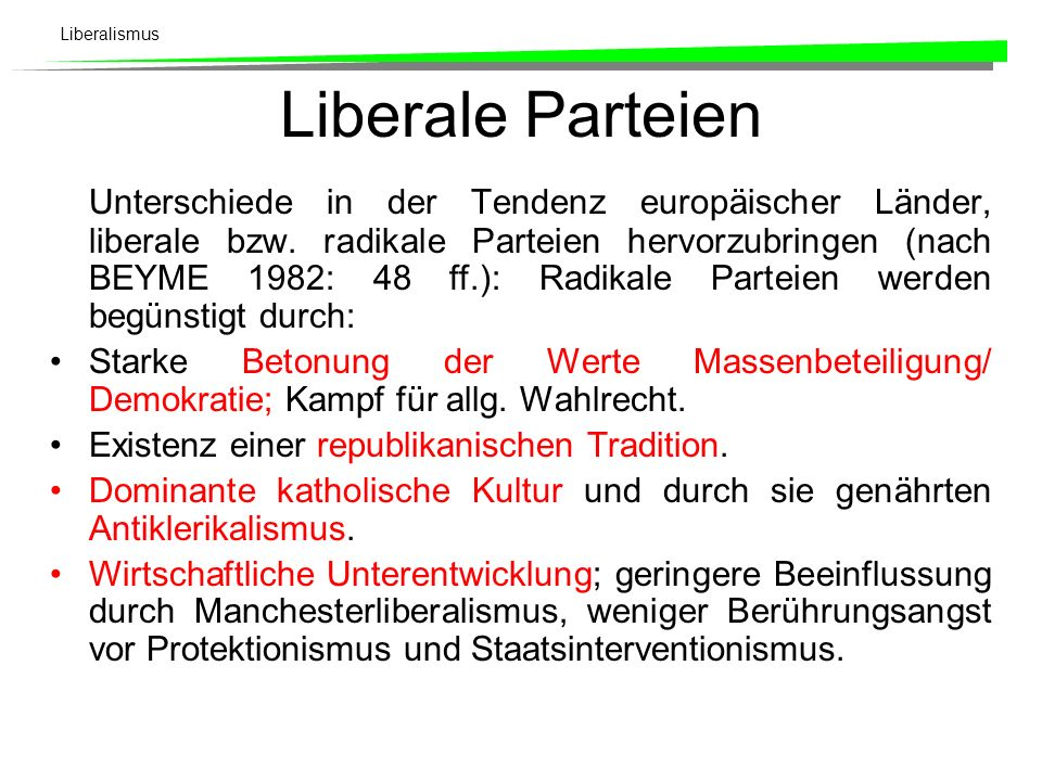 Liberale Parteien