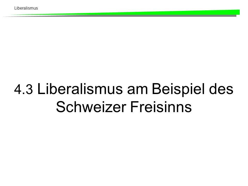 4.3 Liberalismus am Beispiel des Schweizer Freisinns