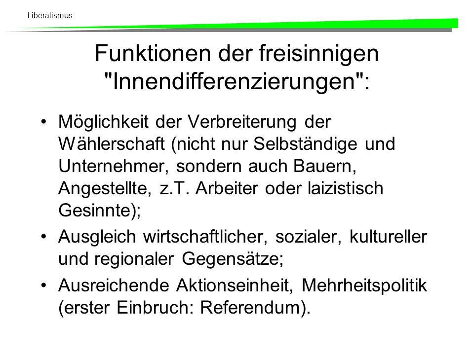 Funktionen der freisinnigen Innendifferenzierungen :